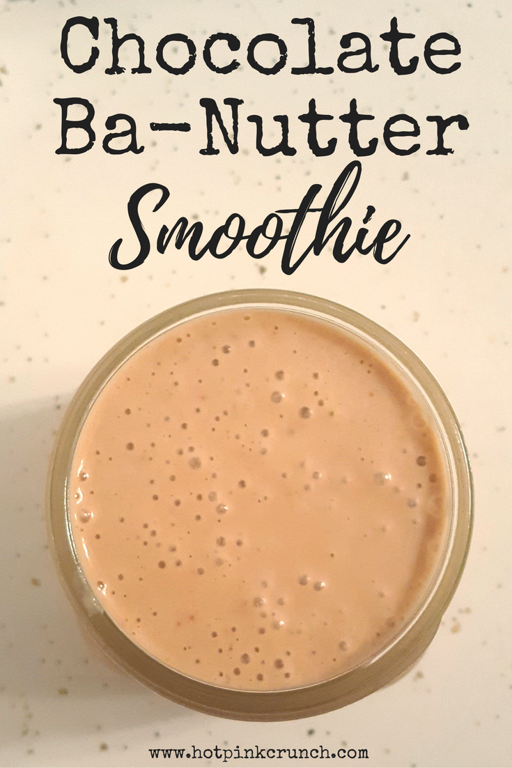 Chocolate Banana Peanut Butter Smoothie Recipe 2 | Hot Pink Crunch