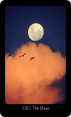 The Moon tarot card image