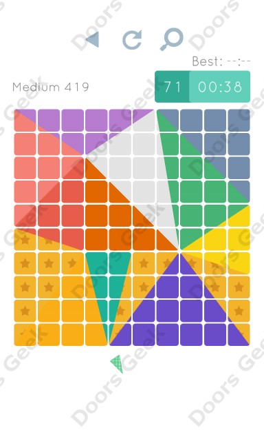 Cheats, Walkthrough for Blocks and Shapes Medium Level 419