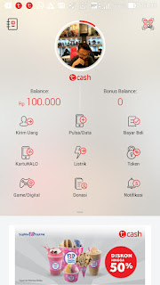 cara top up tcash melalui internet banking