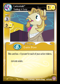 My Little Pony Letrotski Absolute Discord CCG Card