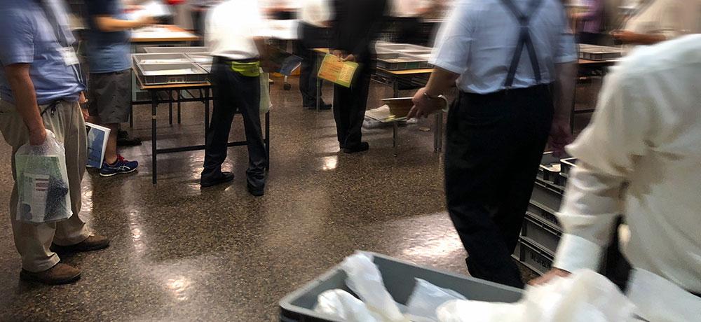 生の木簡を観覧できた浜松市博物館テーマ展「いにしえの文字と浜松」学会員のオーダーで貴重な資料も時折特別陳列された(2018年6月8日撮影)