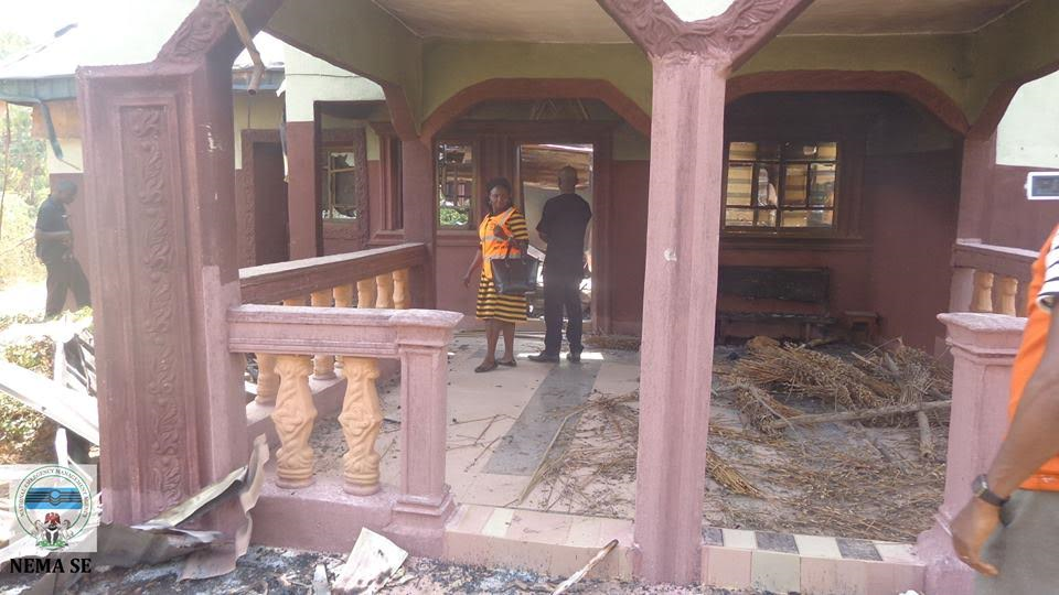Photos Of Vicious Attack On A Community In Abakaliki, State Properties Destroyed