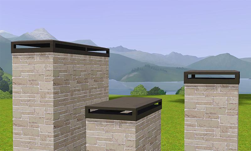 Gelina S Sims 3 Blog Decorative Chimney Caps