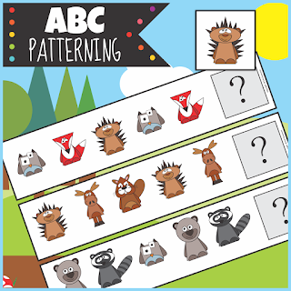 https://www.teacherspayteachers.com/Product/Woodland-Animals-ABC-Patterning-Activity-3757972