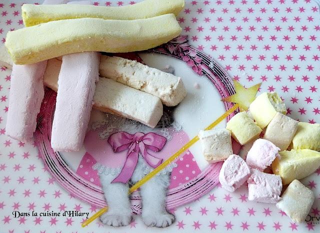 Guimauve maison aux trois parfums (vanille, framboise et citron)
