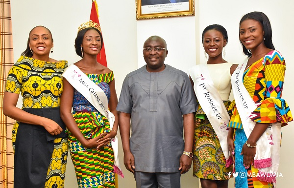 Promote Ghana as an investment destination - Bawumia tells Miss Ghana winners