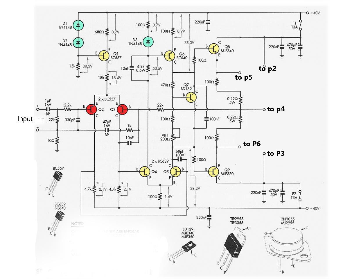 2n3055 mj2955 booster transistor circuit electronic circuit 5000w audio power amplifier circuit 1000w power amplifier circuit diagrams [ 1181 x 960 Pixel ]