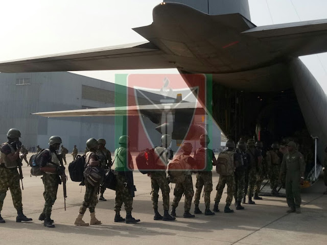 nigerian troops head gambia