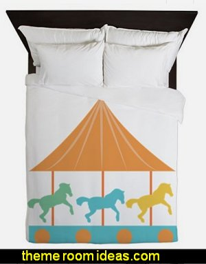 Carousel Queen Duvet carousel bedding carousel theme bedroom ideas - carousel bedroom set - carousel horse theme girls bedrooms - carousel horse decor -  carousel merry go round wall decals - carousel theme baby bedrooms - girls bedrooms theme - carousel horse nursery theme - carousel themed nursery