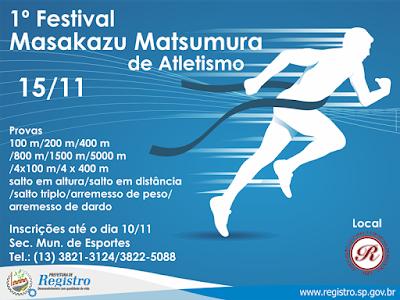 Prefeitura e ACER realizarão 1º Festival Masakazu Matsumura de Atletismo