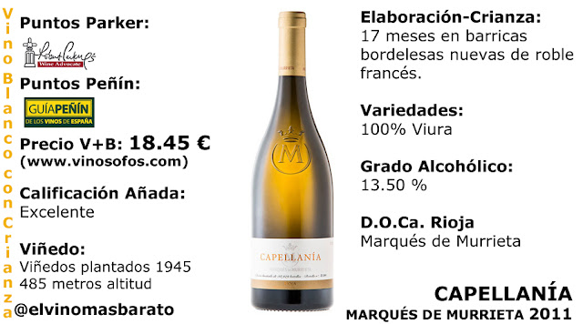 comprar capellania 2011 del marques de murrieta