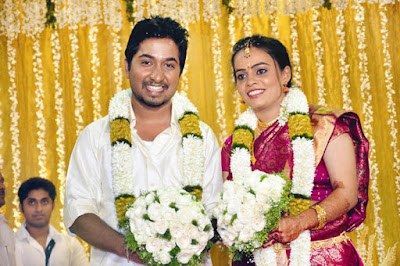 Vineeth Sreenivasan at his wedding