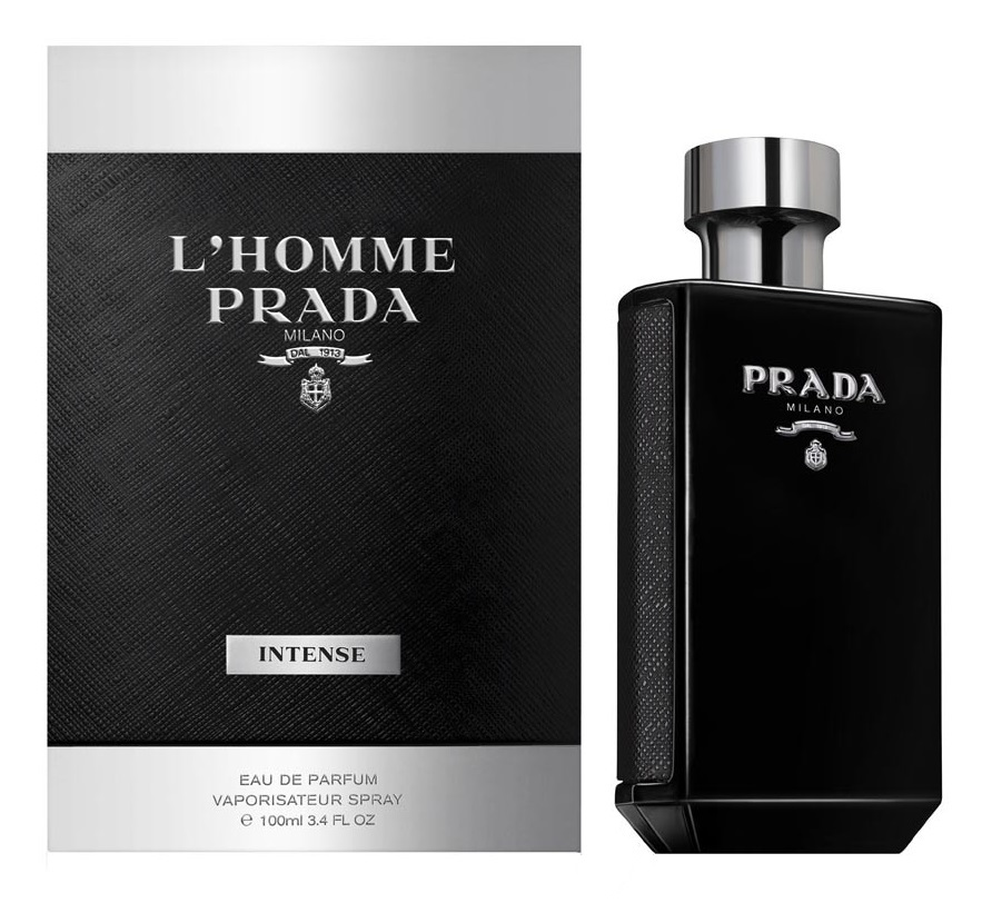 New Prada Lhomme Intense Eau De Parfum Spray Full Size Retail
