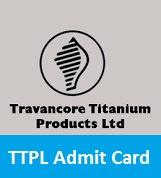 TTPL Admit Card