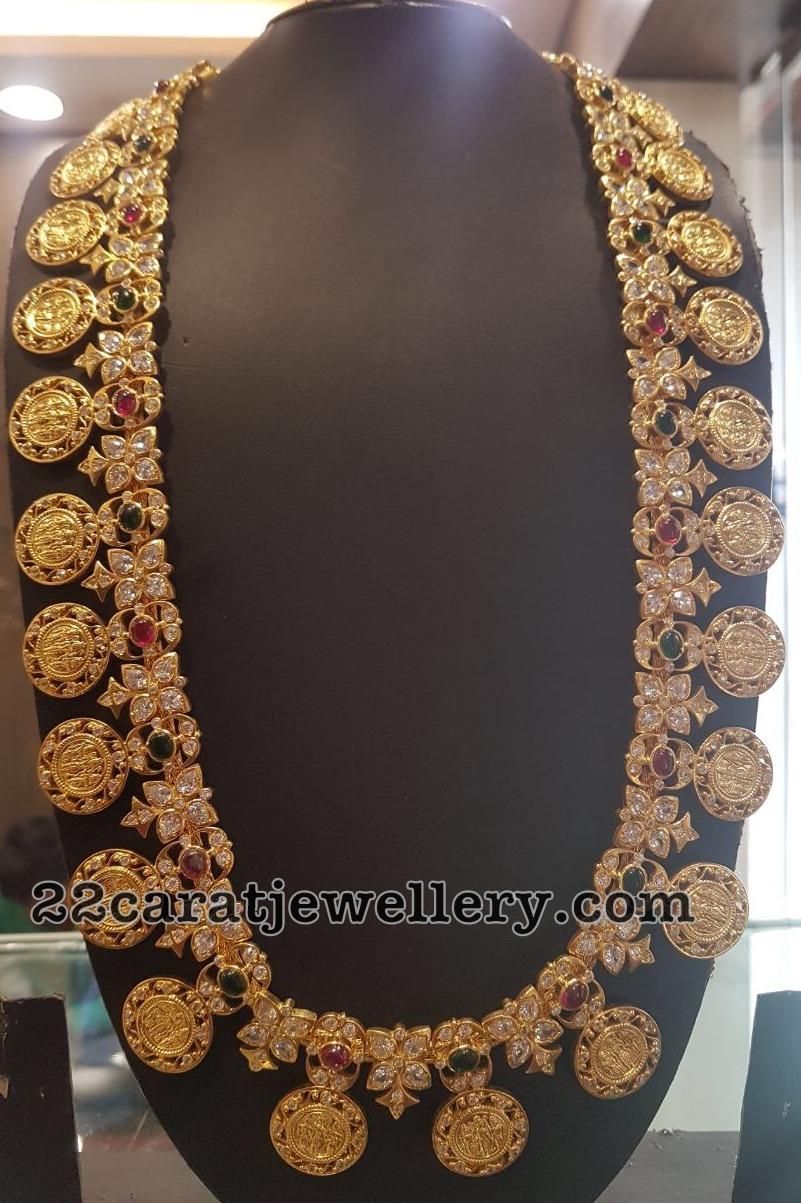 Silver Metal Ram Parivar Haram Jewellery Designs