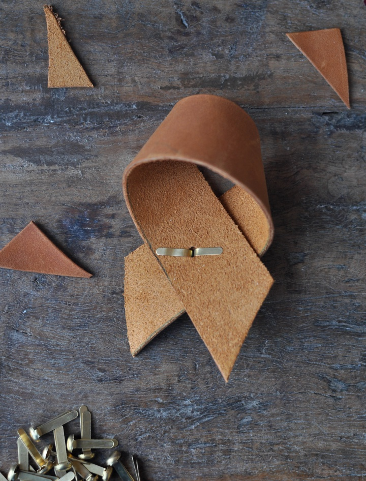 DIY Leather Napkin Ring - how to