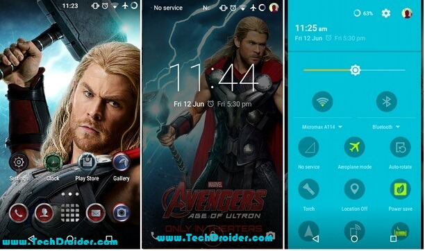 Thor theme for Cyanogenmod 12 ( Cm12 )
