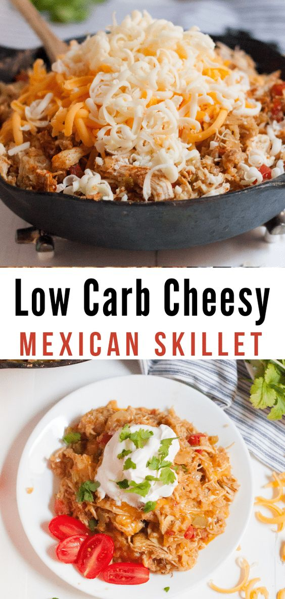Low Carb Cheesy Mexican Skillet Chicken