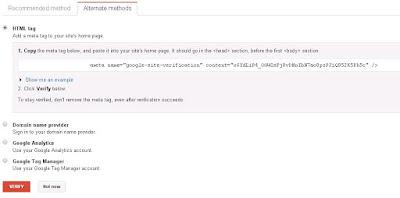 Submit Blog Ke Webmaster Tool