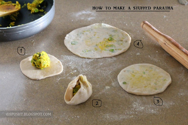 Spusht   How to roll a stuffed paratha