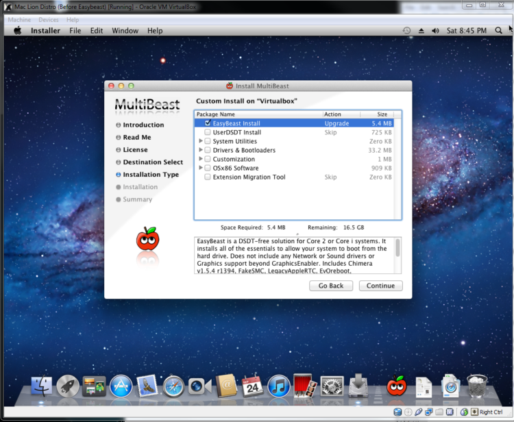 How to install a Snow Leopard Hackintosh in Virtualbox