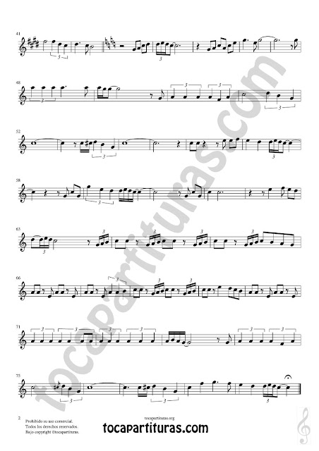 Hoja 2  Violín Partitura de Yo le seguiré (I will follow him) Sheet Music for Violin Music Scores