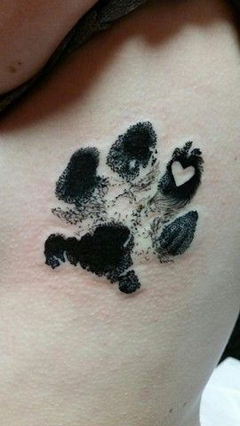 Awesome Paw Print Tattoos For Women