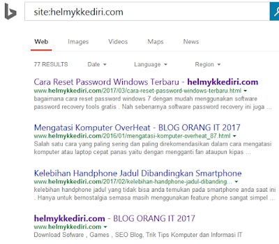 Cara Mendaftarkan Blog ke Bing Webmaster