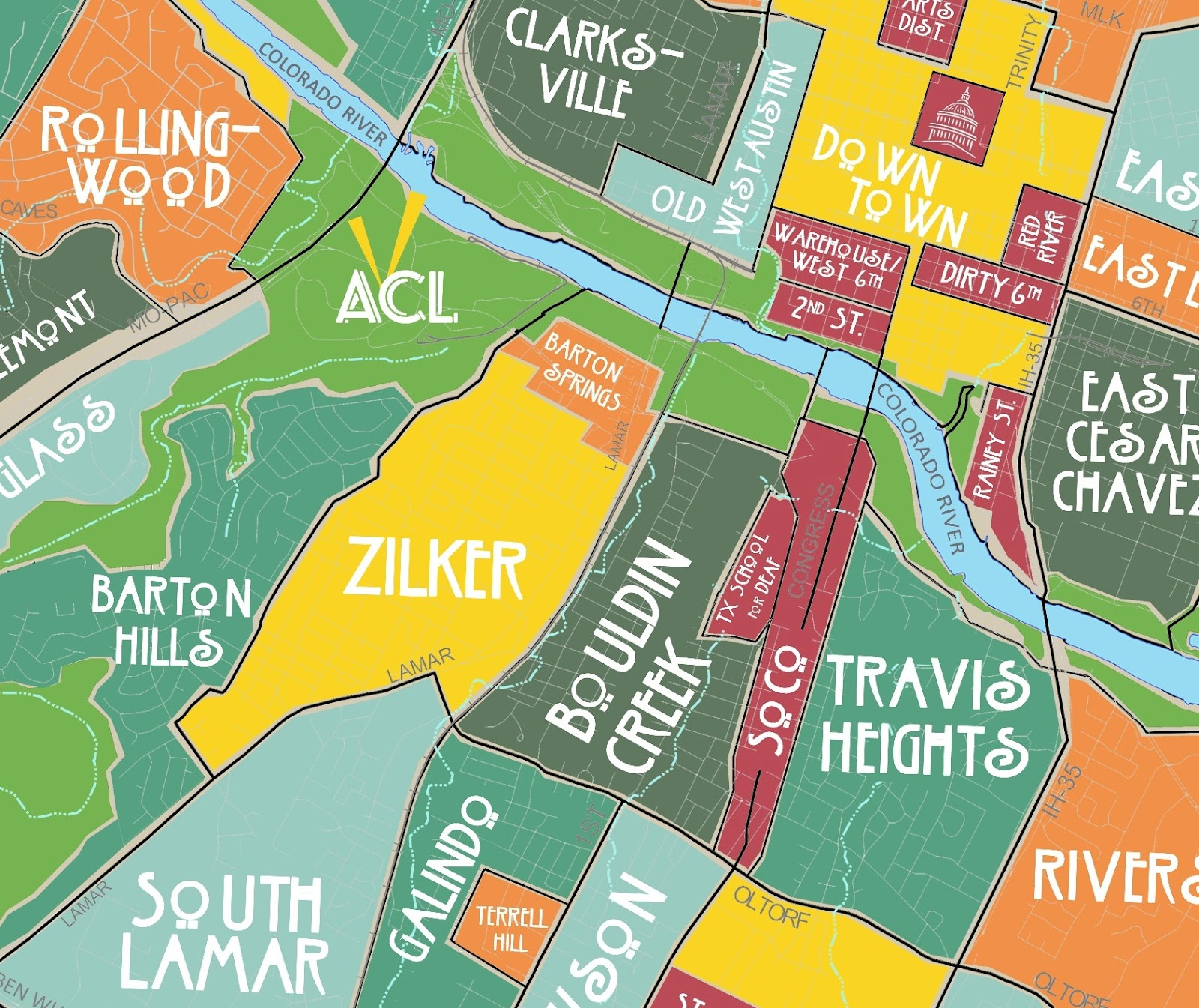 City Of Austin Map Aggregated Maps of Austin — Austin's Atlas