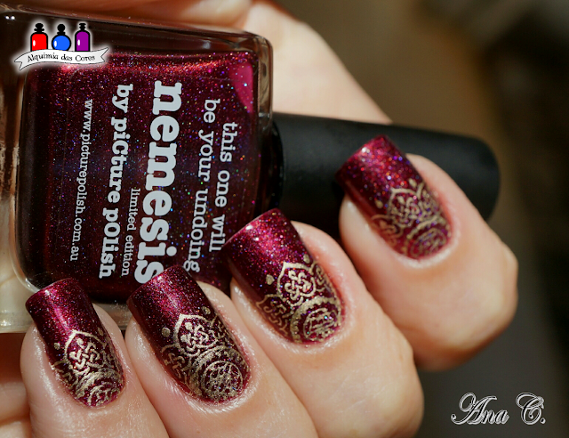 picture polish, nemesis, moyou london, moyou explorer 21, multichrome, Burgundy, Bordô