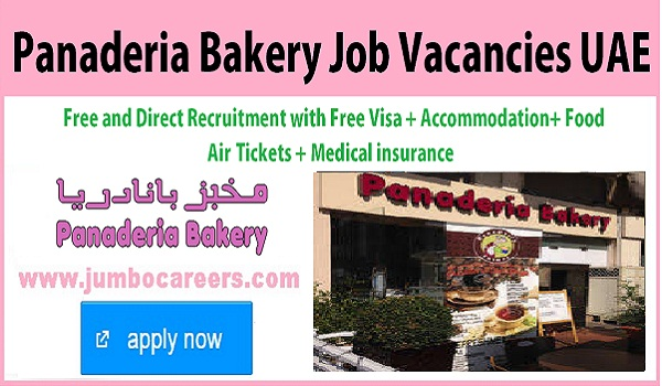 Chef jobs in Panaderia bakery jobs with accommodation, 10th pass UAE bakery jobs with benefits,