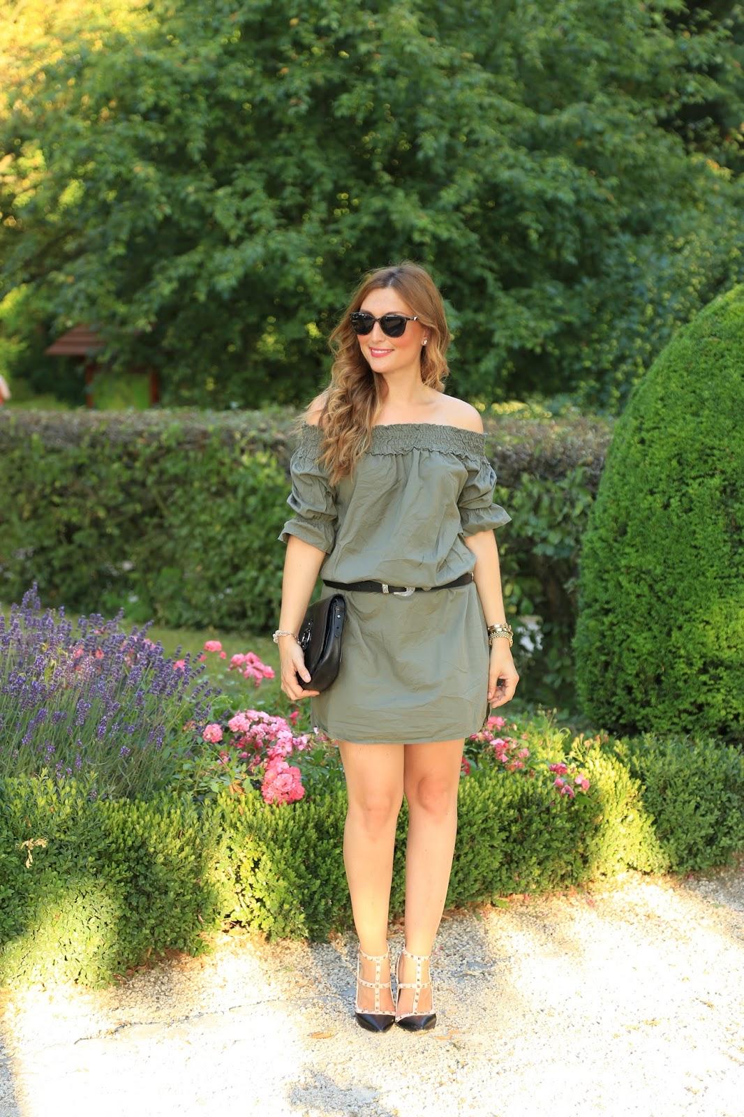 Fashionstylebyjohanna - Fashionblogger aus Frankfurt - Carmenkleid - Khaki Kleid