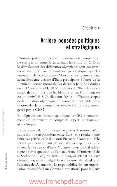 JO politiques: Sport et relations internationales PDF Gratuit
