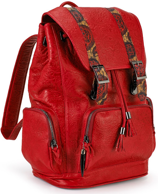 Freedom 24 Red Leather Backpack