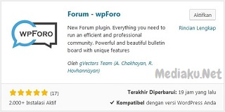 wpForo! Alternatif Forum WordPress