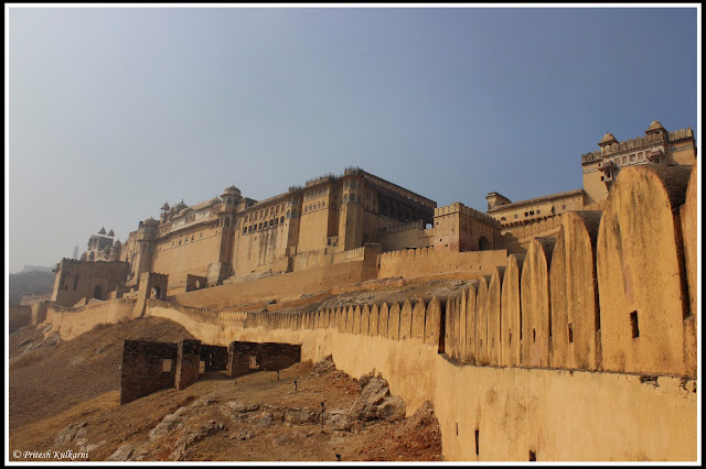Wall for Amer Fort