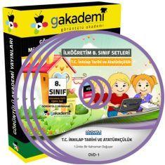 Görüntülü İlköğretim 8.Sınıf T.C. İnkılap Tarihi ve Atatürkçülük Eğitim Seti 14 DVD