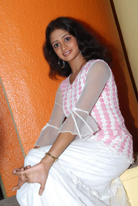 sandeepthi in white dress hot photoshoot