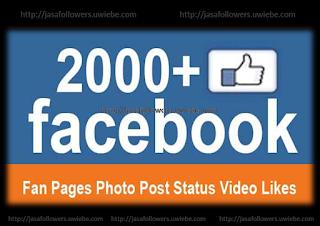 Paket 2000 Like Fanpage Photo/Status/Video