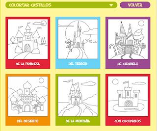 http://www.colorear-online.com/colorear-castillos/