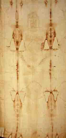 Shroud of Turin has a 3 D image of Jesus.