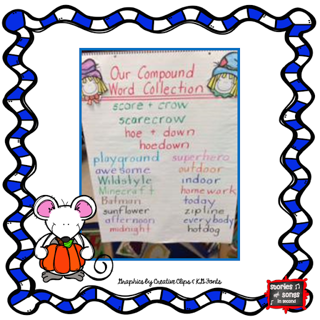 Scarecrow-themed word work and writing activities, as well as mentor texts, will get your young readers and writers excited about compound words!