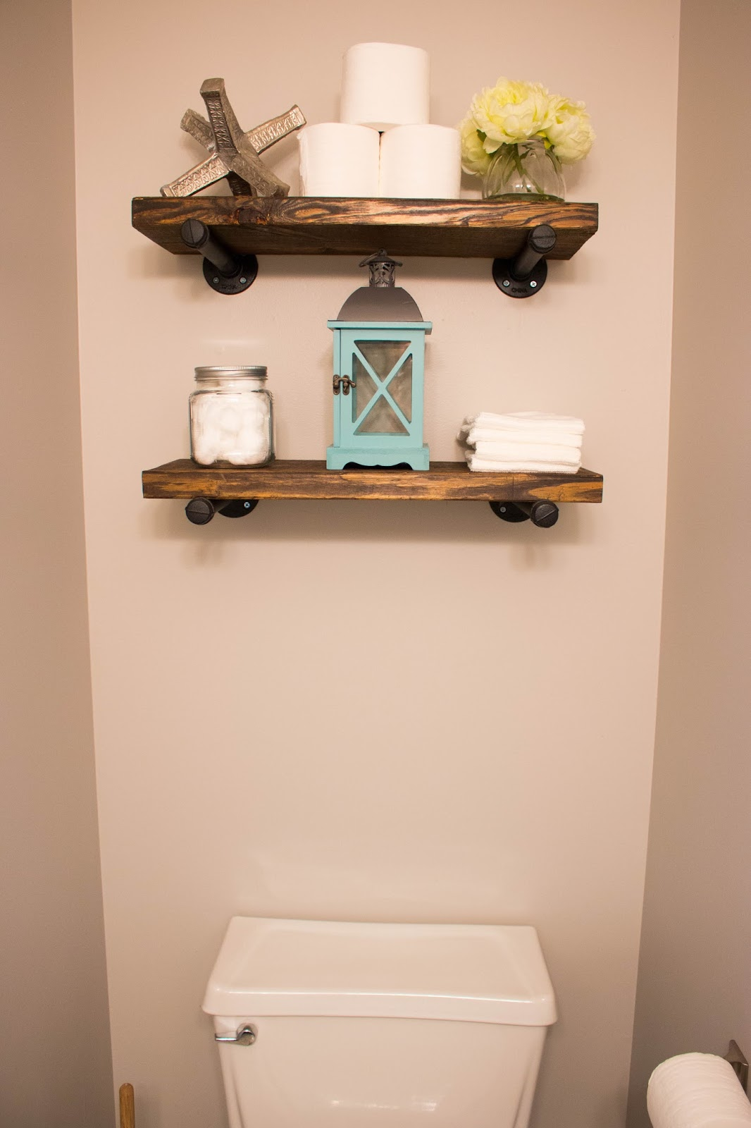 The Powder Bathroom| How to Make Industrial Floating ...