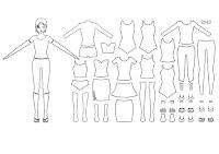 דפי צביעה עיצוב אופנה