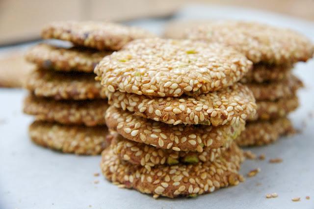 Barazek or Sesame Seed and Pistachio Cookies - Christmas Treats