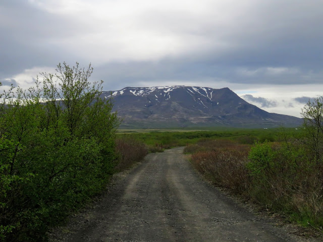 Self-drive around Iceland's Golden Circle: unpaved road and mountains