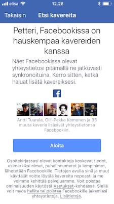 Facebookin Kaveriehdotukset