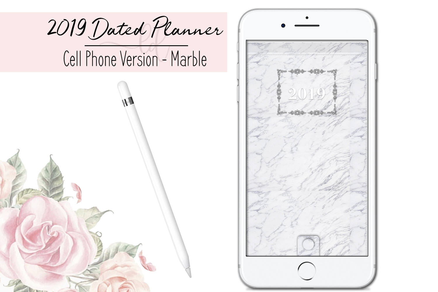 2019 Dated Digital Cell Phone Planner by Leni Digitals