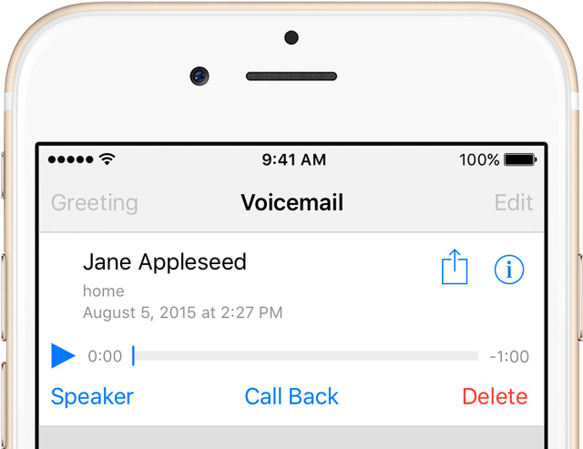 how to change voicemail message on iphone voicemail transcription missing in ios 11 19900